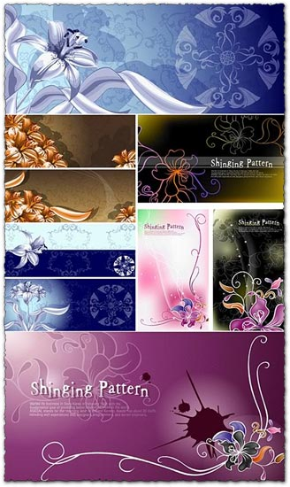 Flower vector pattern banners