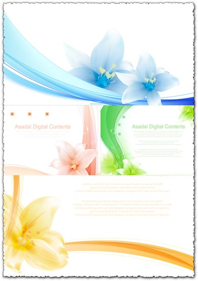 Vector flower posters