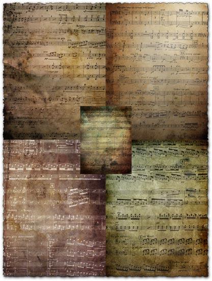 Grunge music textures