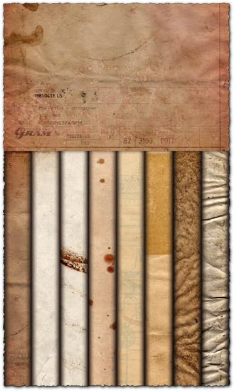 Grungy paper textures rf images