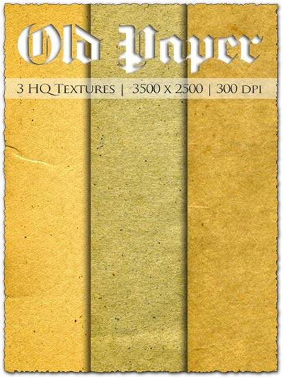 3 Old paper textures