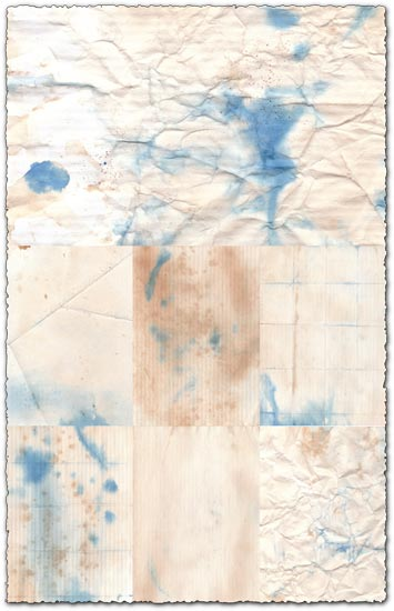 Ink stained paper backgrounds