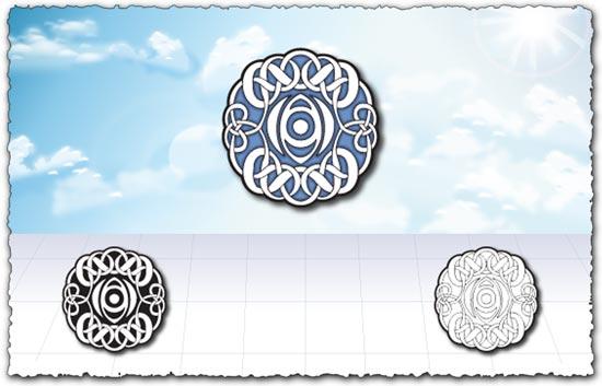 Islamic circle art design