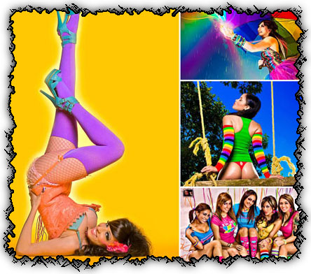 Ladies colorful creative photoworks