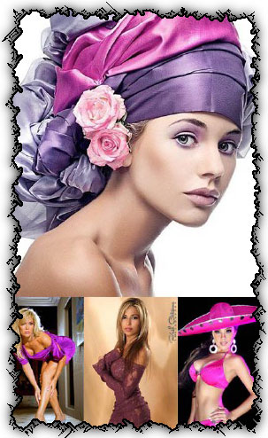 Ladies in purple and violet creative photowork