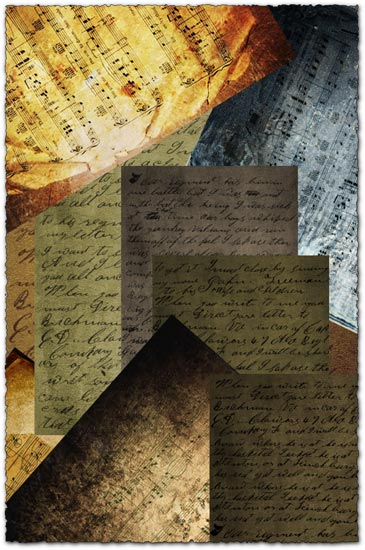 Old scripts and sheets textures