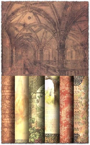 Ornamental paper textures collection