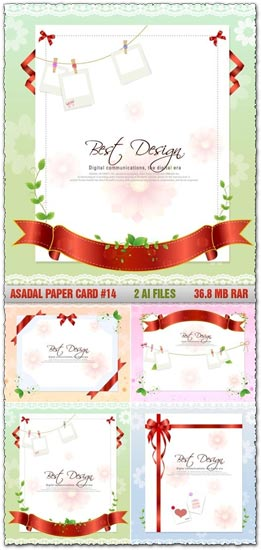 Paper cards design vector
