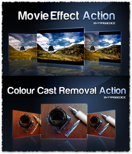 Movie effect photoshop action script
