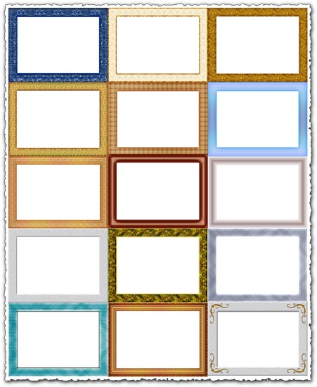 Png wooden frames collection
