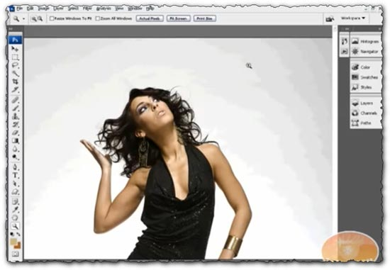 Photoshop tutorial Advanced Hair Selection: Making Difficult Selections with Channels