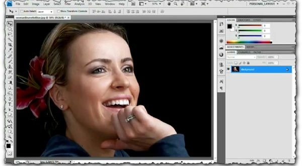 Photoshop tutorial Change the eye color