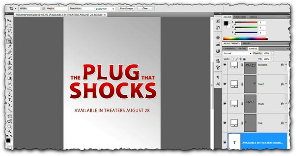 Photoshop tutorial Create  a simple poster