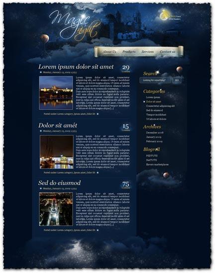 Photoshop tutorial – create a web design theme from scratch