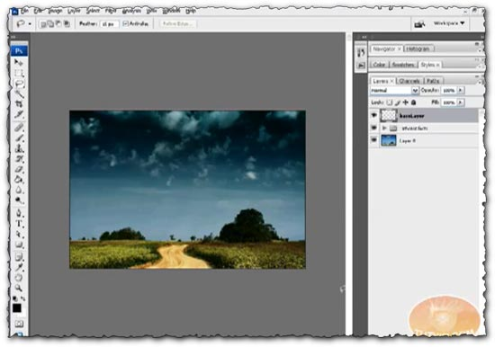 Photoshop tutorial Create an Explosion using Simple Tools