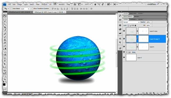 Photoshop tutorial Creating 3D Spiraling Light Streaks or Zips