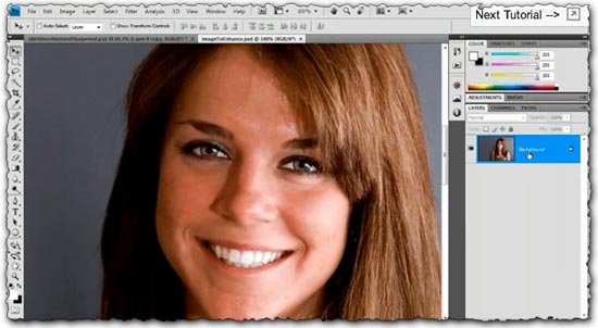 Photoshop tutorial Smoothing and Softening Skin for Portrait Retouching