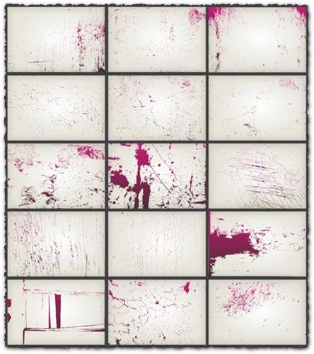 Splash to wall textures vector