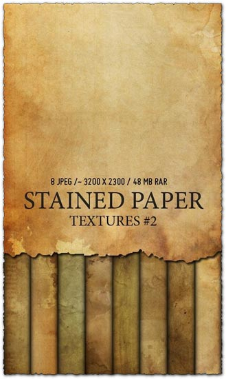 Stained paper texture collection