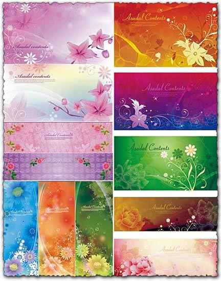 Vector banners flower design