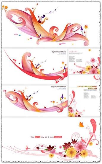 Flower waves vectors