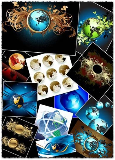 Vector globes design