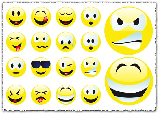 Yahoo emoticons vector set