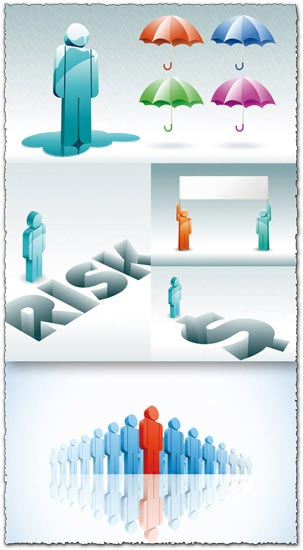 3D people vector templates