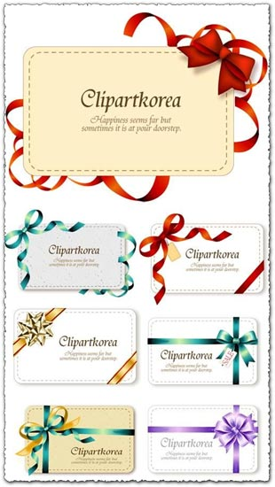 9 Gift labels vector cards