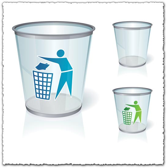 Glass bin vectors