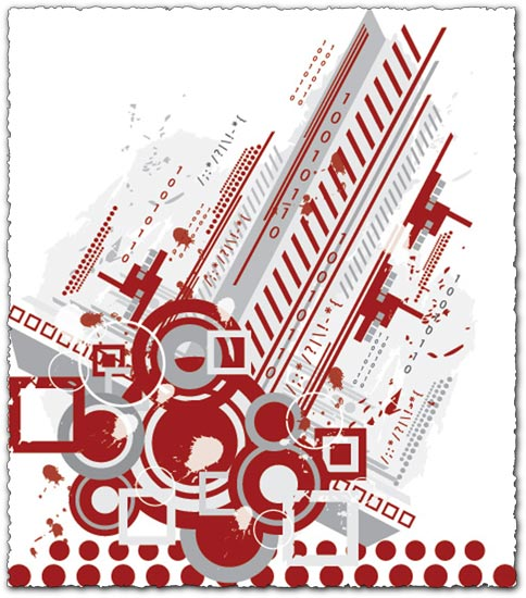 Abstract city vector design