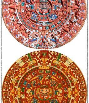 Aztec calendar vector