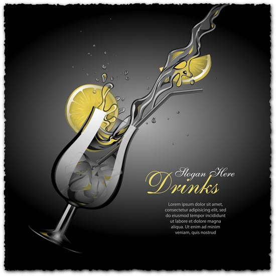 Cocktail vector template