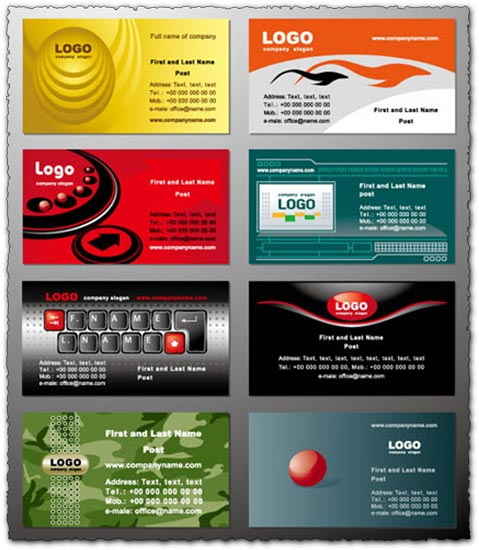 Commercial business cards vectors