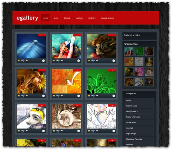 Egallery Elegantthemes wordpress template