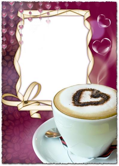 Frame for photos coffee aroma