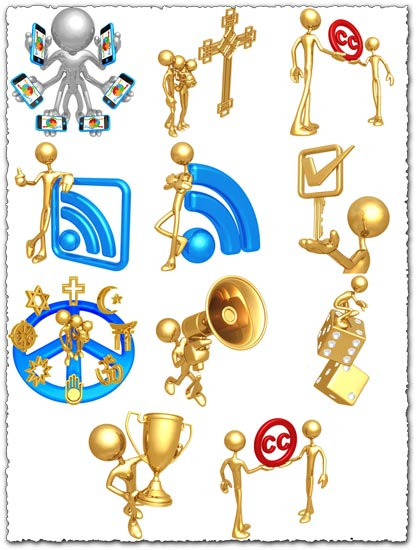 Golden and silver figurine icons