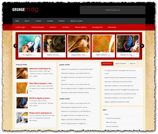 GrungeMag elegantthemes wordpress template