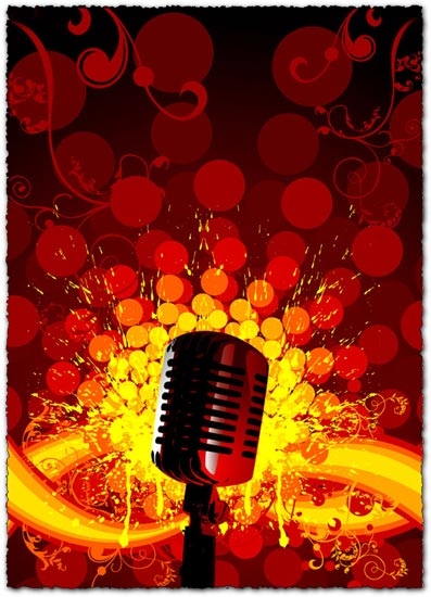 Party light microphone vector