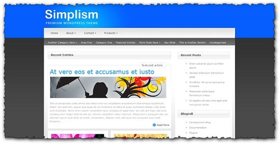Simplism Elegantthemes wordpress template