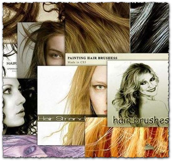 10 photoshop hair brushes