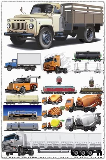 12 Big trucks vector designs