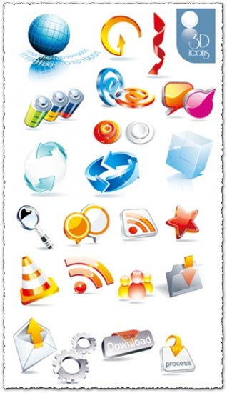 3D stock vector icons