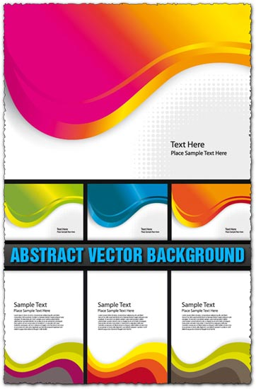 Abstract business cards backgrounds