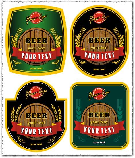 Beer logo vector labels