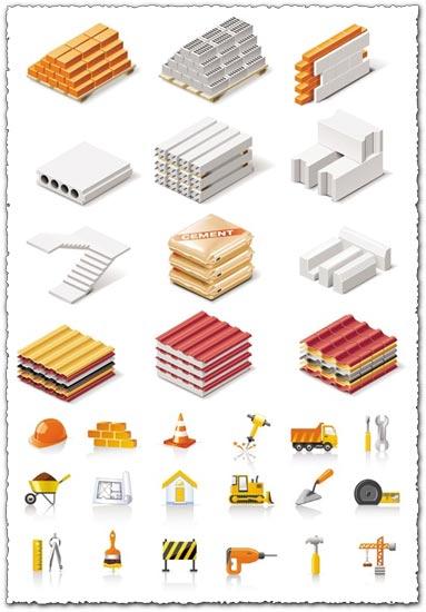 Building icons vectors