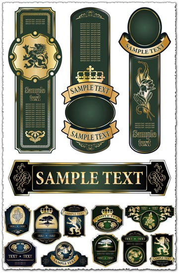 Champagne vector labels design