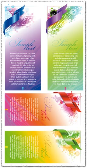 Colorful abstract banner vectors