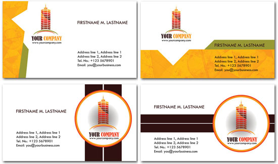 Construction business cards psd models colourmoves