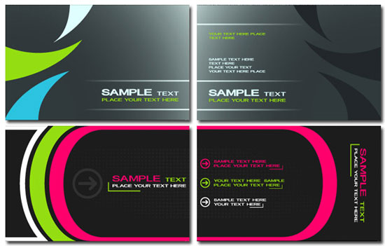 High tech business cards models